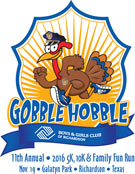 Annual Richardson Gobble Hobble 5K & Family Fun Run/Walk November 19, 2016 in Richardson, Texas.