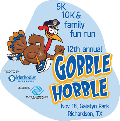 Annual Richardson Gobble Hobble 5K & Family Fun Run/Walk November 18, 2017 in Richardson, Texas.